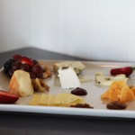 A selection of cheeses each served with a pairing at The Loft in Laguna Beach, CA