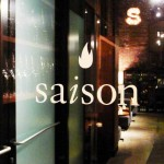 The entrance to Saison