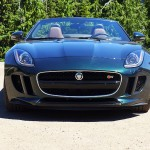 Front view of the Jaguar F-Type S in British Racing Green Metallic