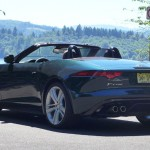 Rear view of the Jaguar F-Type