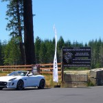 Polaris White Jaguar F-Type S at The Ridge Motorsports Park