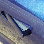 Door handle of the Jaguar F-Wheel detail of Jaguar F-Type S