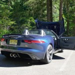 Hood up of the Jaguar F-Type S in Indigo Metallic