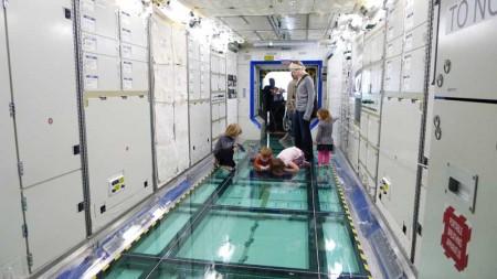 Interior of Space Station Destiny Lab