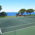 Tennis court at Mauna Kea Beach Hotel