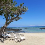 Secluded beach of Mauna Lani Bay Hotel and Bungalows