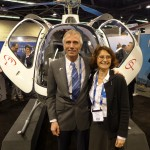 husband and wife bruno and veronique guimbal at heli-expo 2014