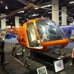 orange enstrom 2 place helicopter