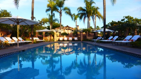 The pool at Rancho Valencia located in Rancho Santa Fe