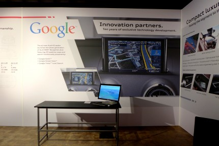 Audi partners with Google for in-car apps