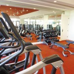 The gym at Island Hotel Newport Beach