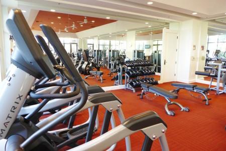 The gym at Island Hotel Newport Beach