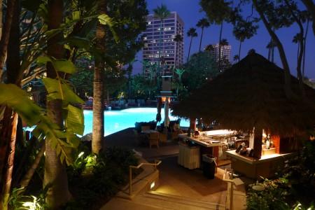 Night swim at Island Hotel Newport Beach