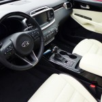 Interior of the 2016 Kia Sorento