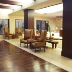 The Ritz-Carlton, Rancho Mirage incorporates elements of stone and wood to echo its surroundings