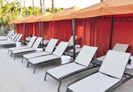 While away your days at one of Hotel Irvine's cabanas
