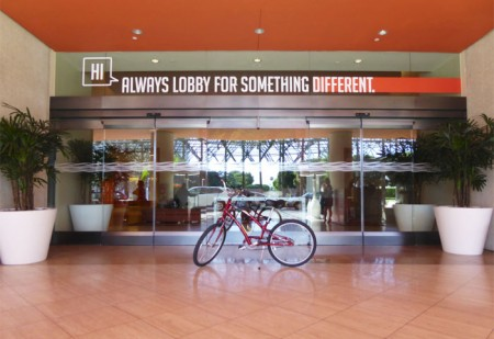 "Hotel Irvine offers a free bike rental and a friendly ""HI"" concierge service"