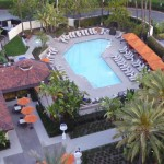 Enjoy the perfect Orange County weather at the Hotel Irvine swimming pool