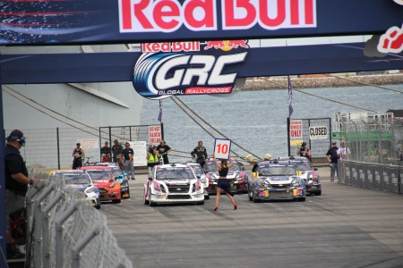 Ready, set, go! Racers rev their engines at the Red Bull Global Rallycross event