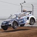 Scott Speed in his Volkswagen SuperCar