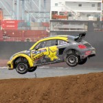 Tanner Foust, from USA, in his Rallycross SuperCar