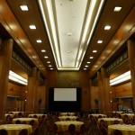 One of the ballrooms aboard The Queen Mary where business meetings and weddings are held