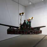 "Burden's ""Bateau de Guerre"" is made up of 172 metal gasoline cans and weighs about 400 pounds"