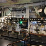 The one remaining engine room on The Queen Mary