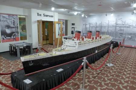A replica of The Queen Mary made out of Legos
