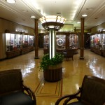 Take a seat in the lobby or browse the gift shops on The Queen Mary