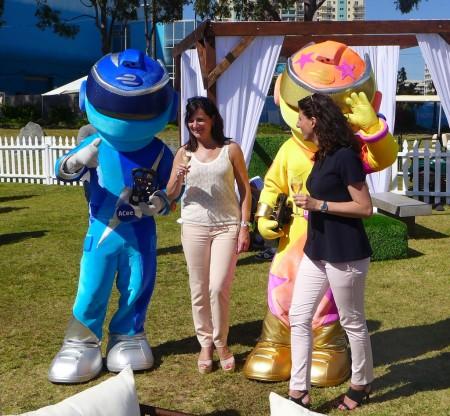 Formula E mascots ACee and DCee