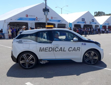 bmw i3 medical car in formula e