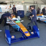 Formula E Team Aguri garage in Long Beach