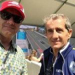 alain prost with alain gayot in long beach formula e race