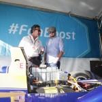 Leonardo DiCaprio with Formula E CEO Alejandro Agag