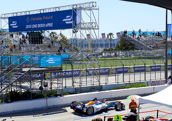 A view of the 2016 Faraday Future Formula E Long Beach ePrix race track